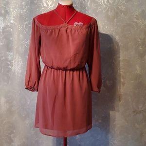 WAYF Off the shoulder pink dress size small